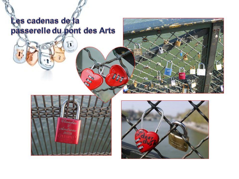Les cadenas de la passerelle du pont des Arts