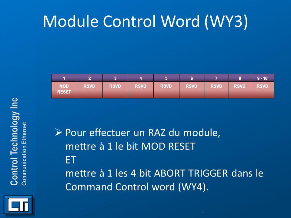Module Control Word (WY3)