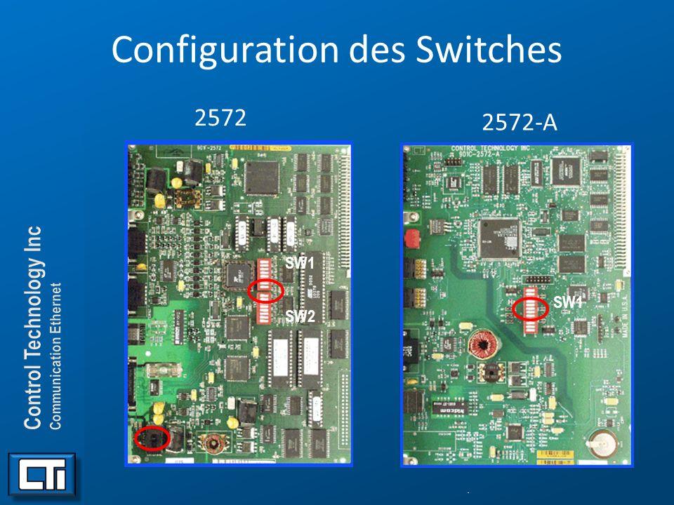 Configuration des Switches