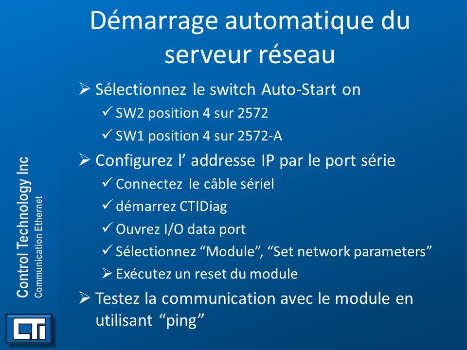 Démarrage automatique du serveur réseau