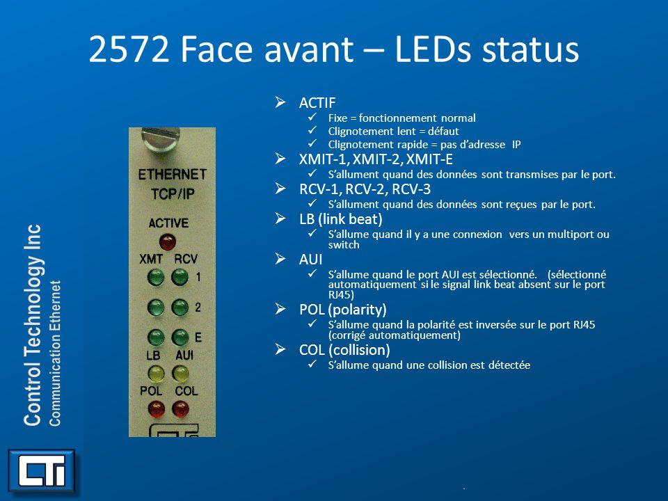 2572 Face avant – LEDs status