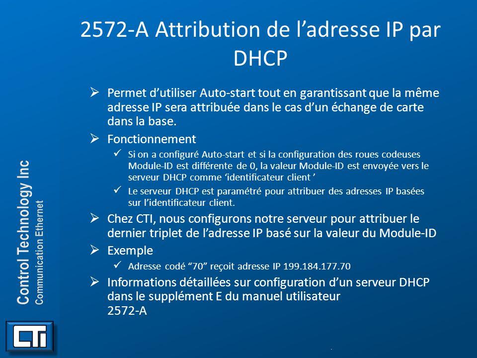 2572-A Attribution de l'adresse IP par DHCP