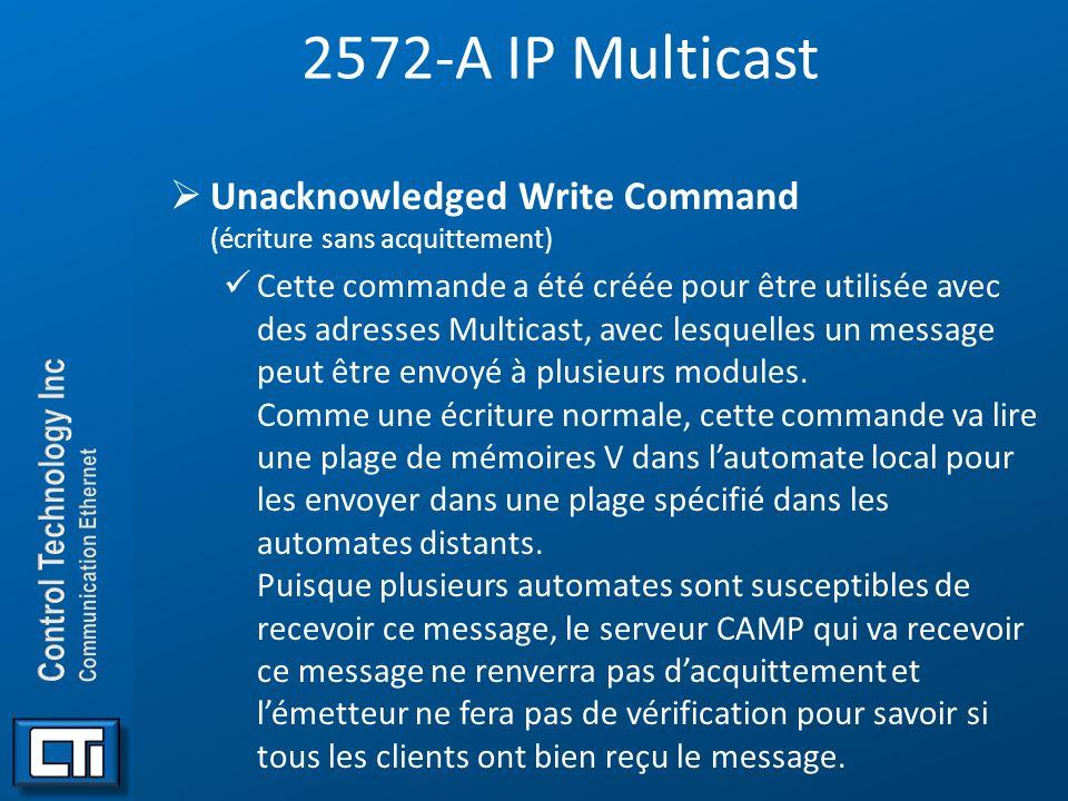 2572-A IP Multicast Unacknowledged Write Command (écriture sans acquittement)
