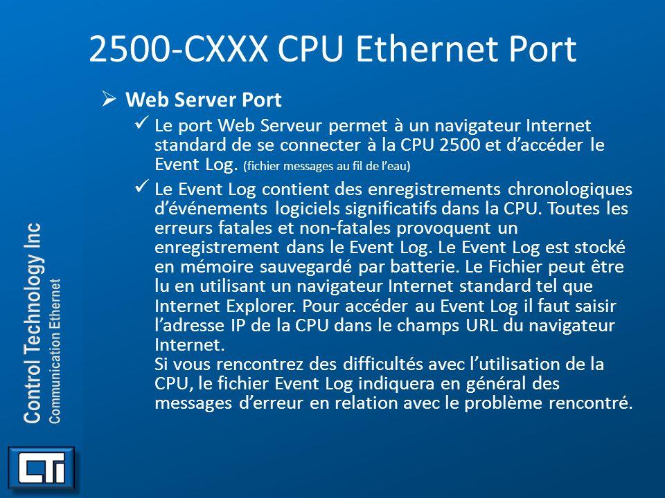 2500-CXXX CPU Ethernet Port