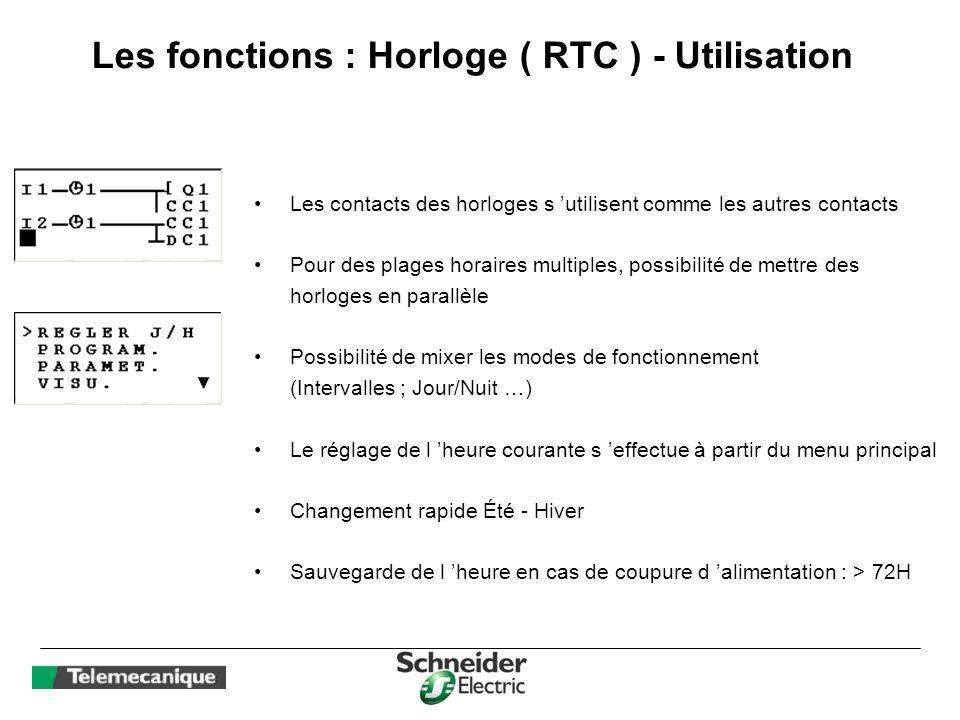 Les fonctions : Horloge ( RTC ) - Utilisation
