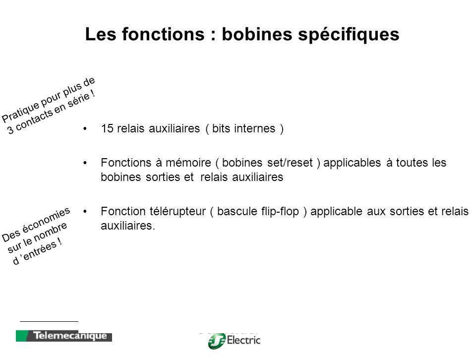 Les fonctions : bobines spécifiques