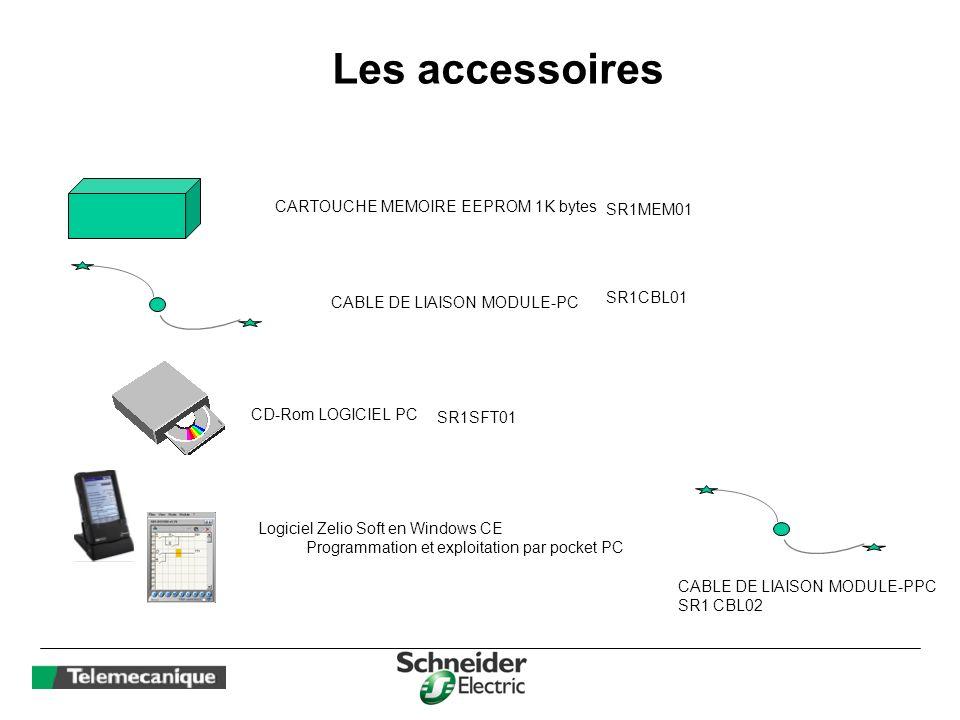 Les accessoires CARTOUCHE MEMOIRE EEPROM 1K bytes SR1MEM01 SR1CBL01