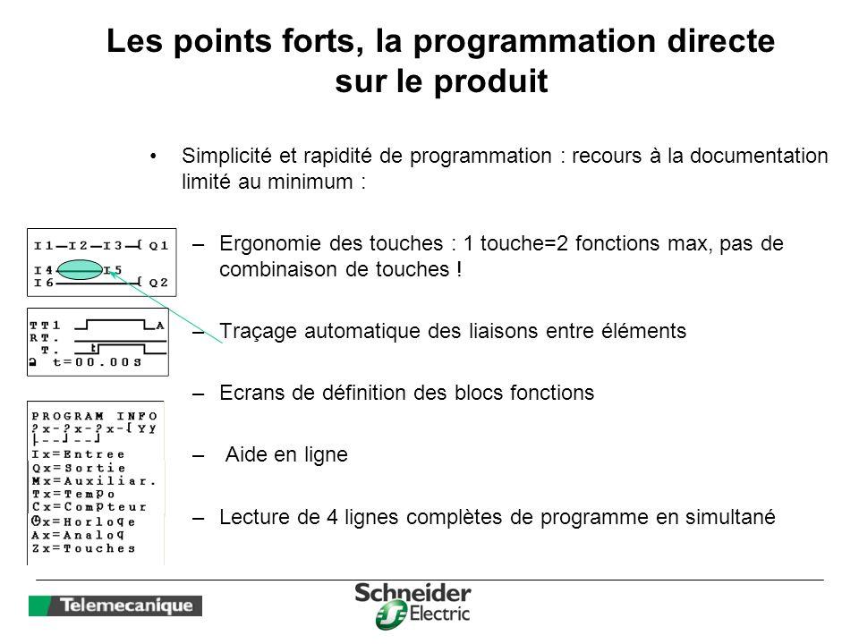 Les points forts, la programmation directe sur le produit
