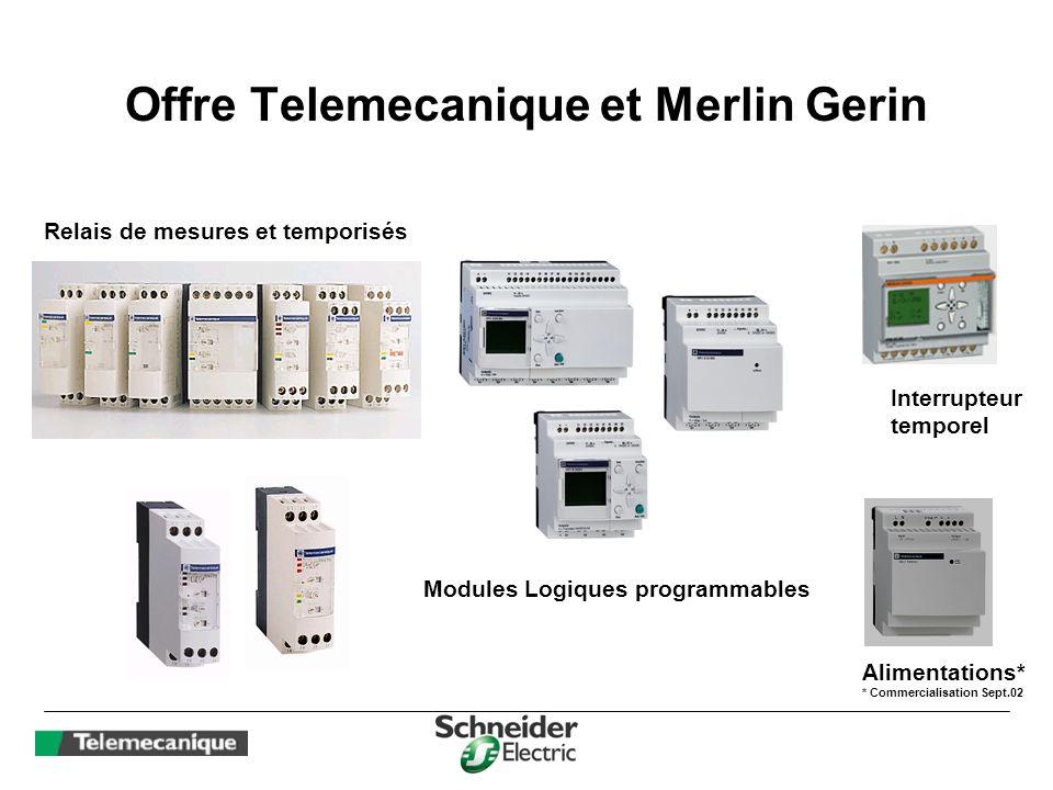 Offre Telemecanique et Merlin Gerin