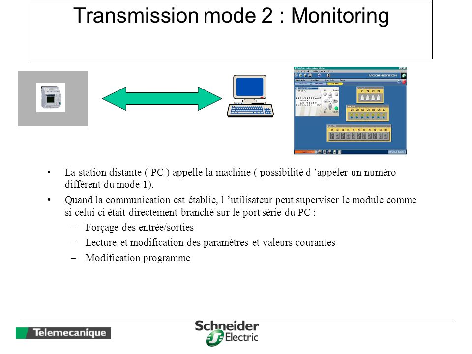 Transmission mode 2 : Monitoring