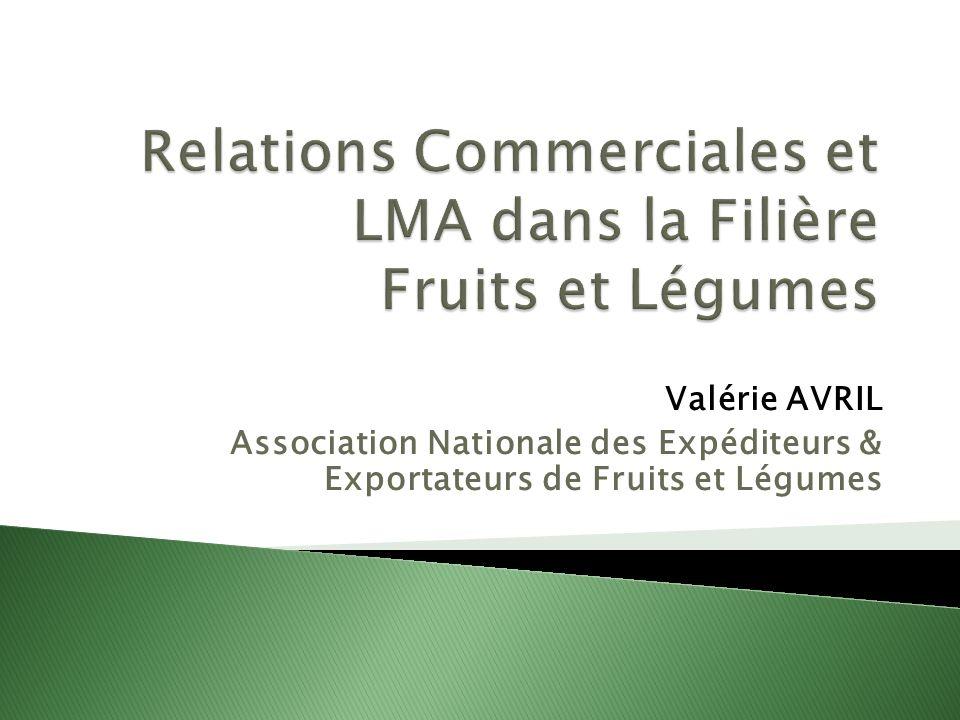 Relations Commerciales et LMA dans la Filière Fruits et Légumes