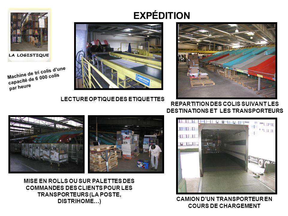 EXPÉDITION LECTURE OPTIQUE DES ETIQUETTES