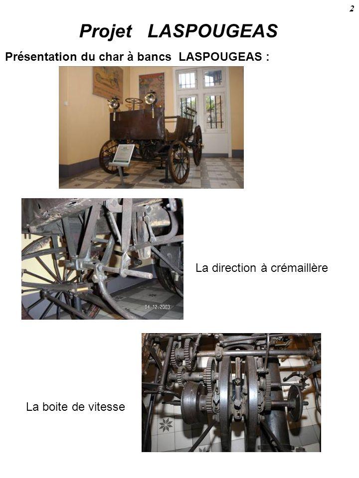 Projet LASPOUGEAS Présentation du char à bancs LASPOUGEAS :