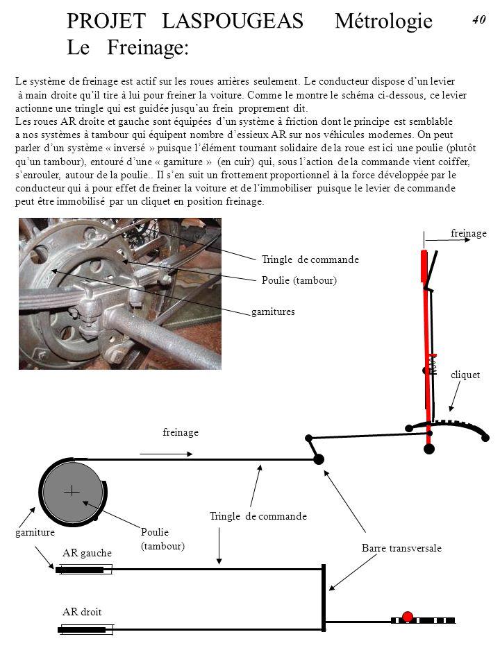 PROJET LASPOUGEAS Métrologie Le Freinage:
