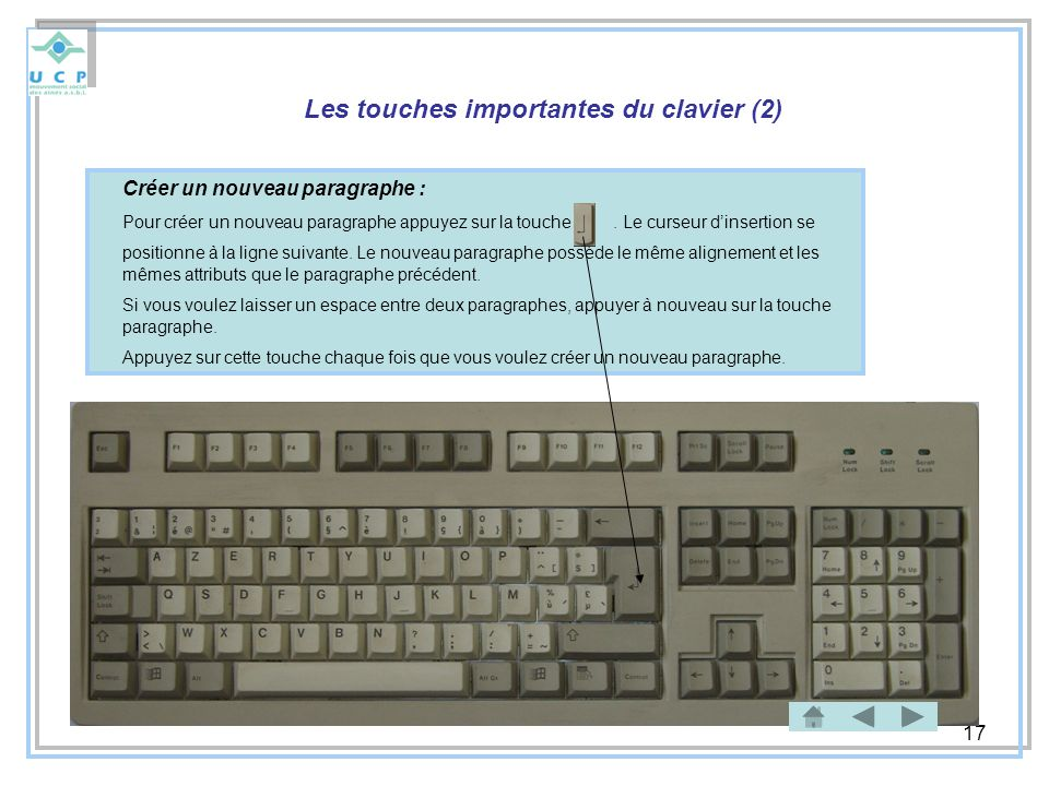 Les touches importantes du clavier (2)