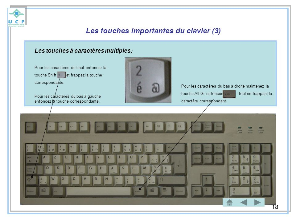 Les touches importantes du clavier (3)