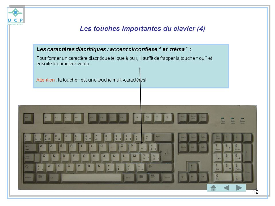 Les touches importantes du clavier (4)