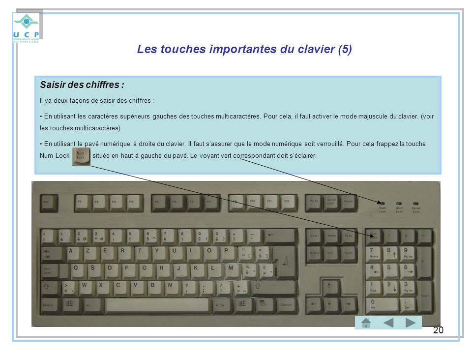 Les touches importantes du clavier (5)