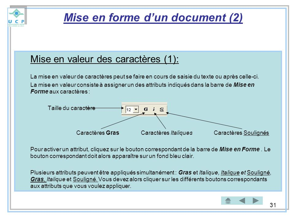 Mise en forme d'un document (2)