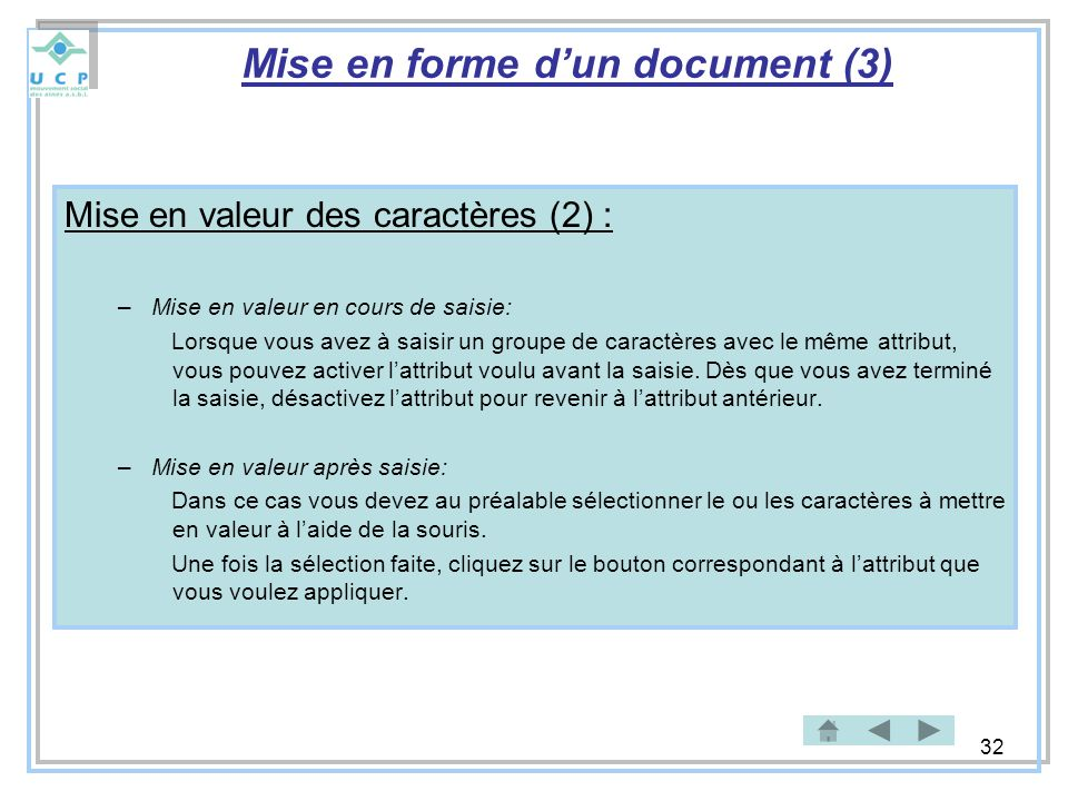 Mise en forme d'un document (3)