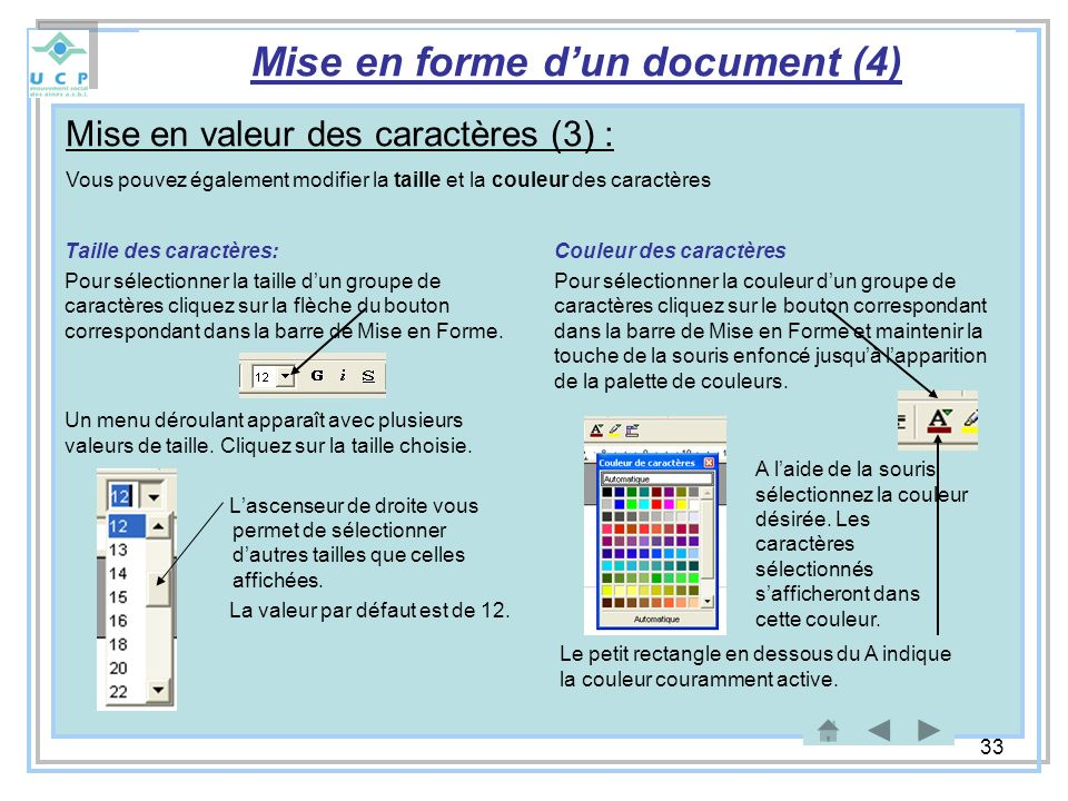 Mise en forme d'un document (4)