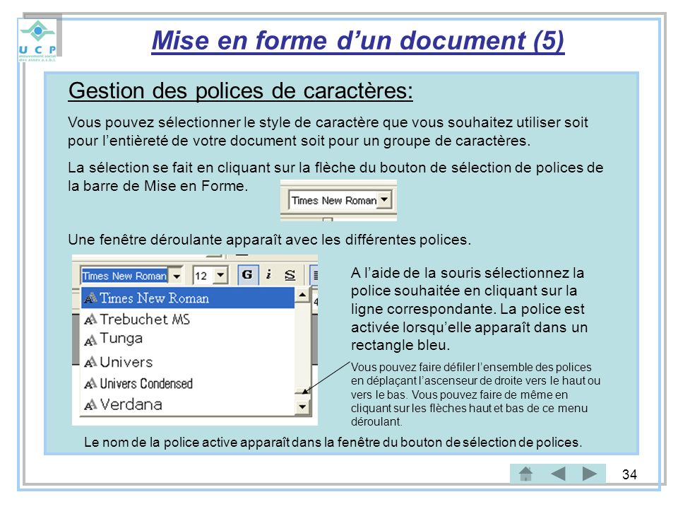 Mise en forme d'un document (5)