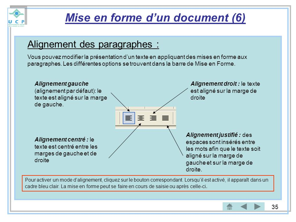 Mise en forme d'un document (6)
