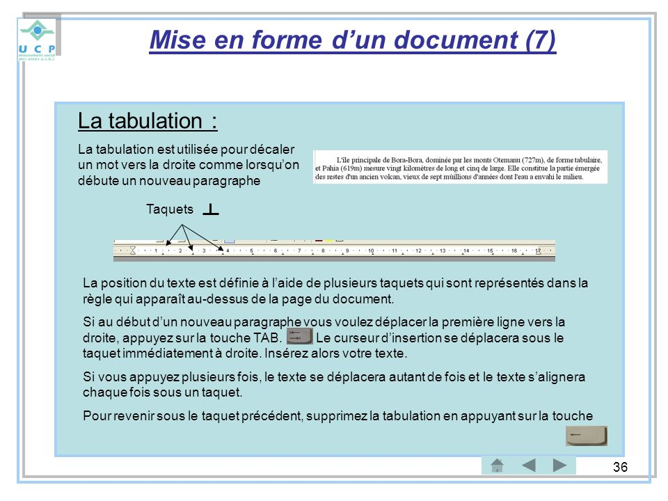 Mise en forme d'un document (7)