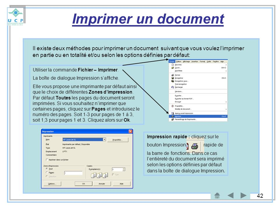 Imprimer un document