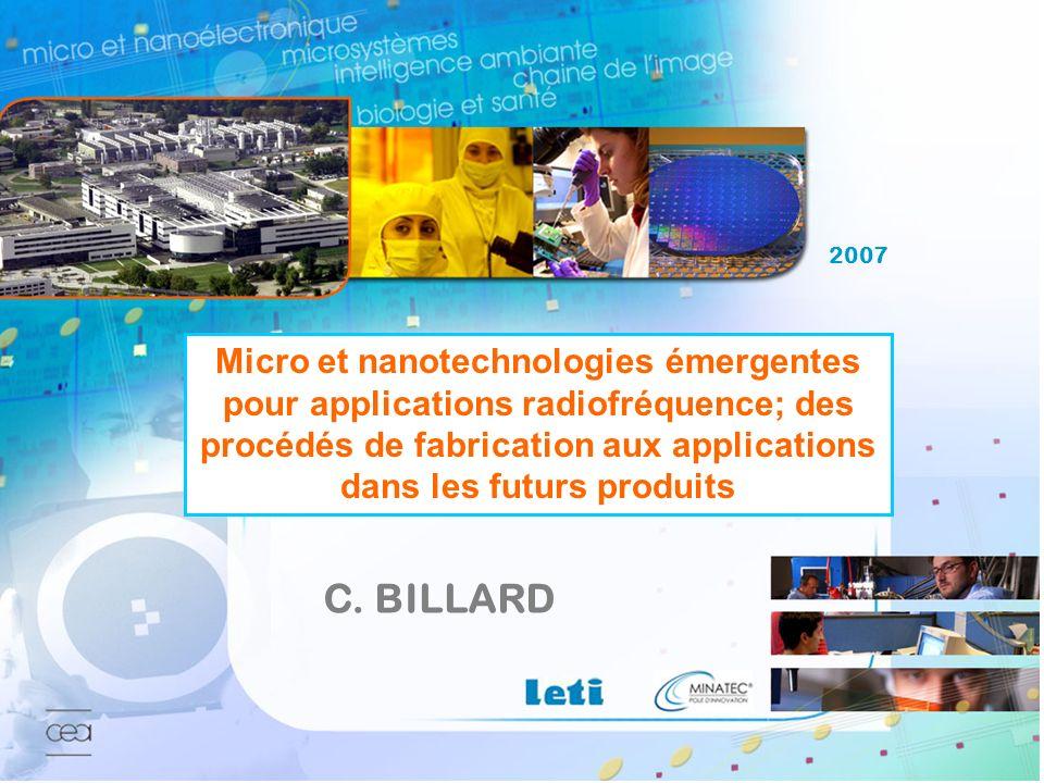 Journées scientifiques du CNFRS – C. Billard