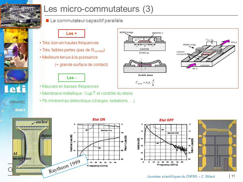 Les micro-commutateurs (3)