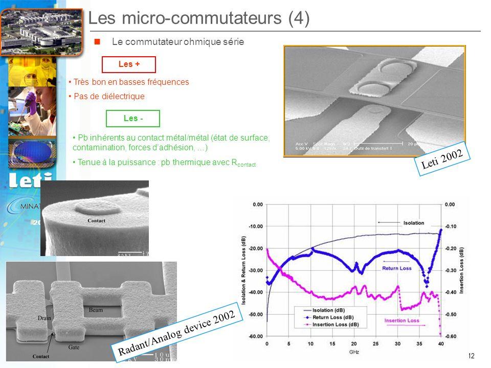 Les micro-commutateurs (4)