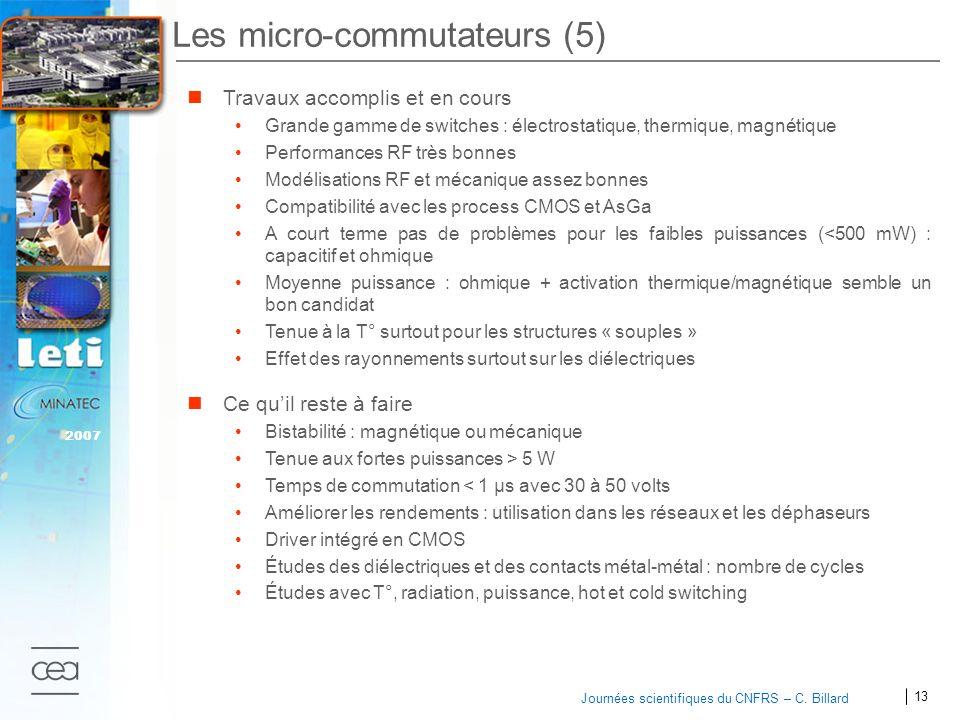 Les micro-commutateurs (5)