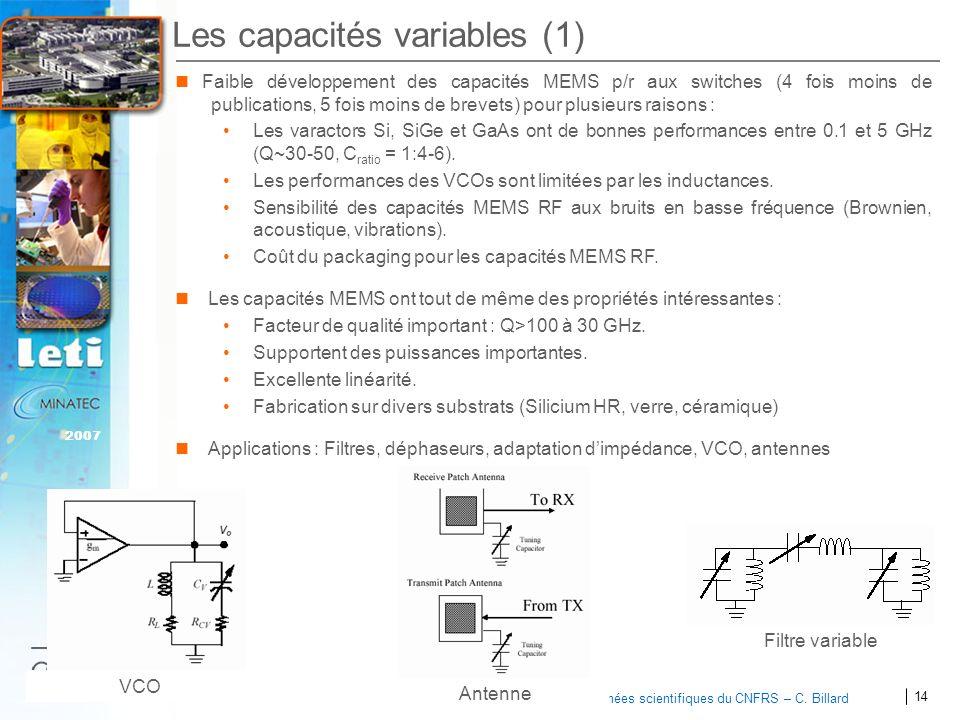 Les capacités variables (1)