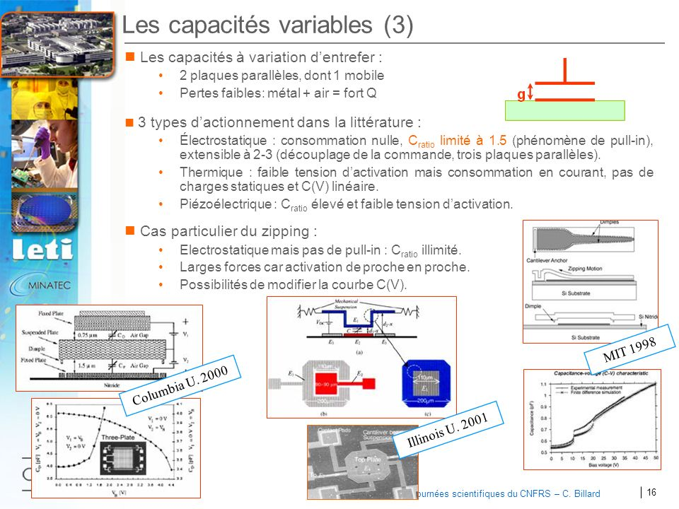 Les capacités variables (3)