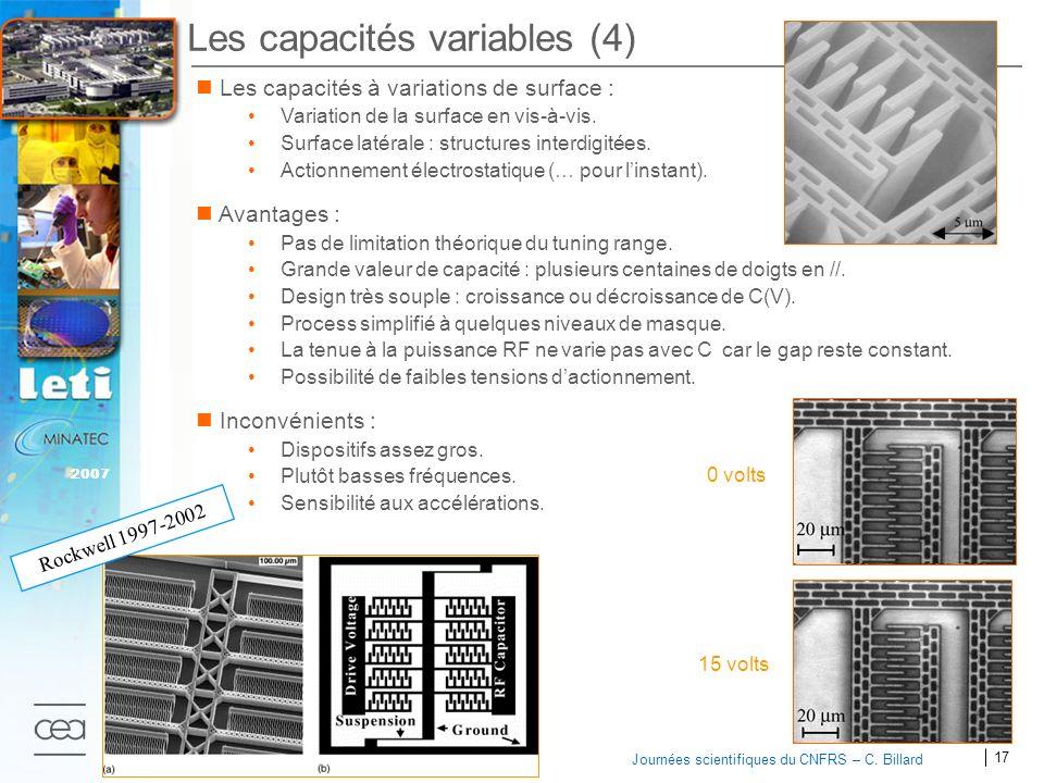 Les capacités variables (4)
