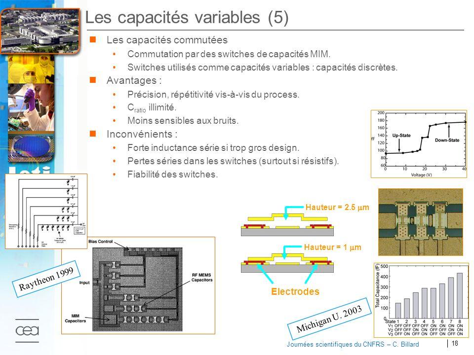 Les capacités variables (5)