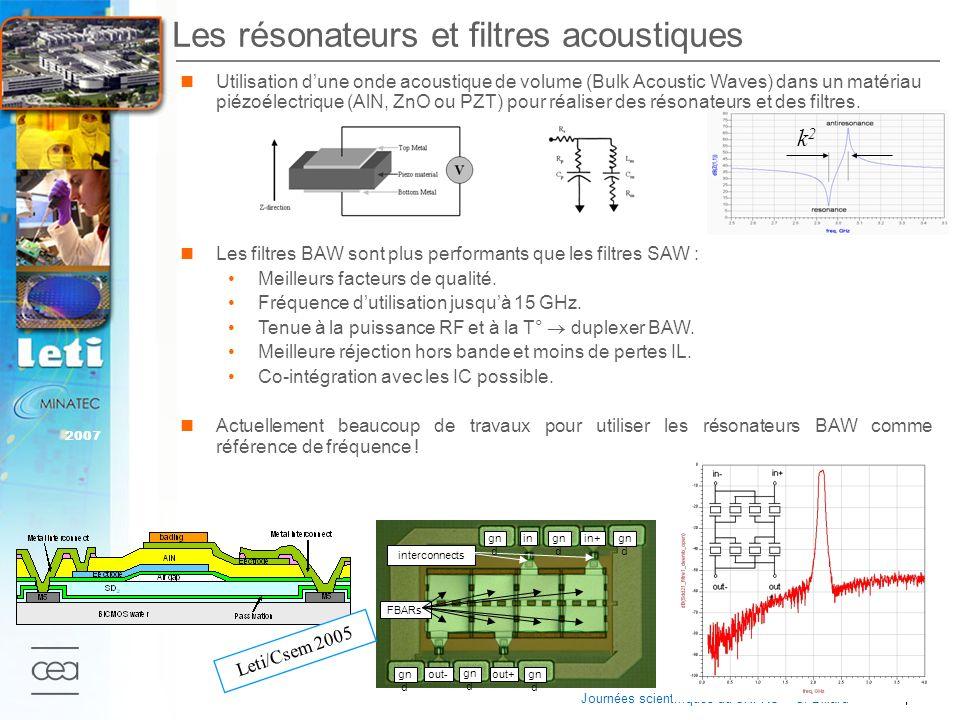 Les résonateurs et filtres acoustiques