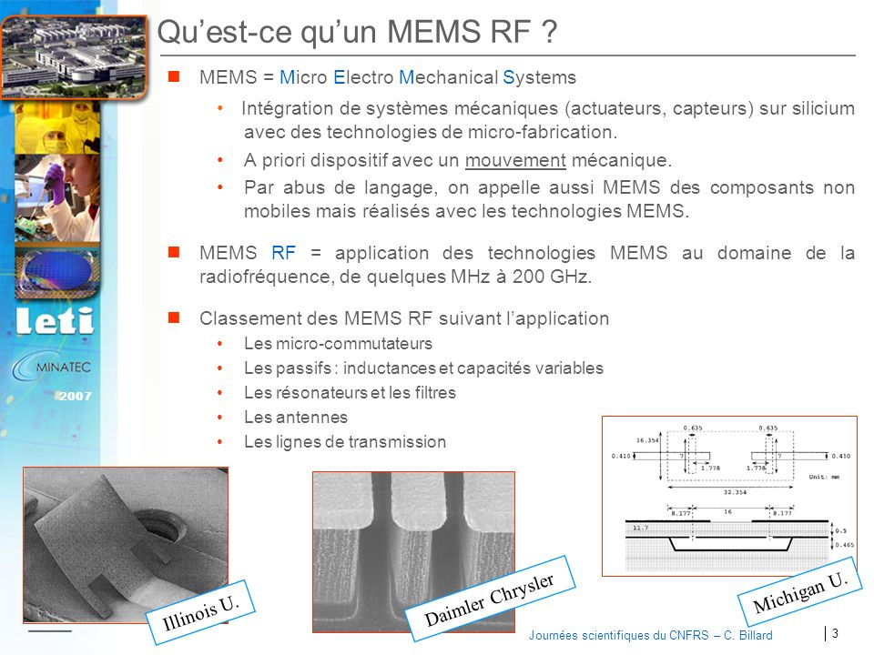 Qu'est-ce qu'un MEMS RF