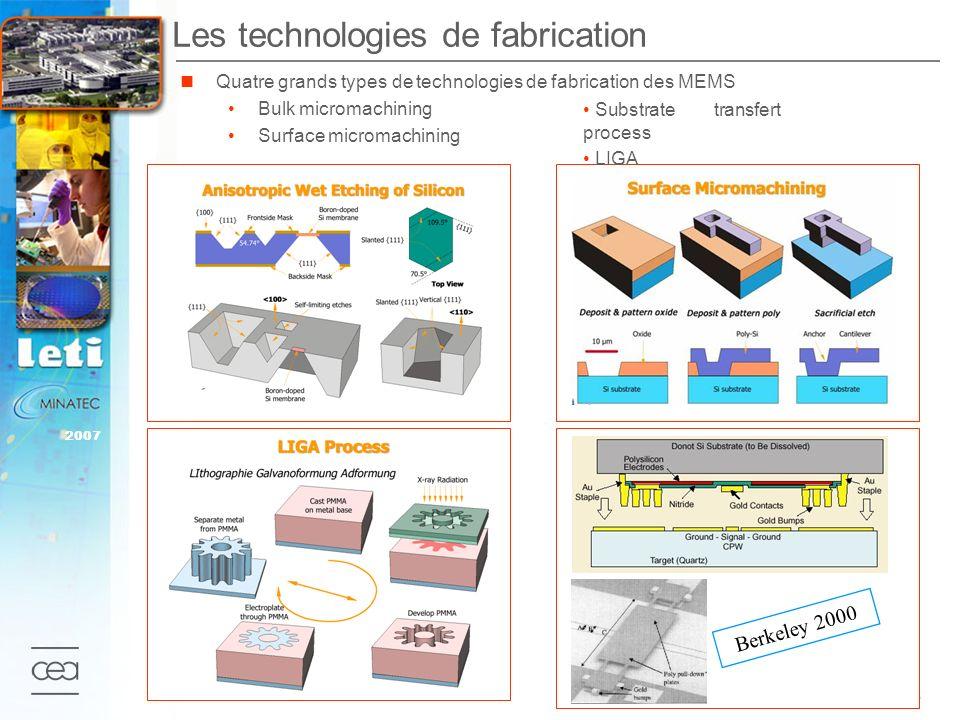 Les technologies de fabrication