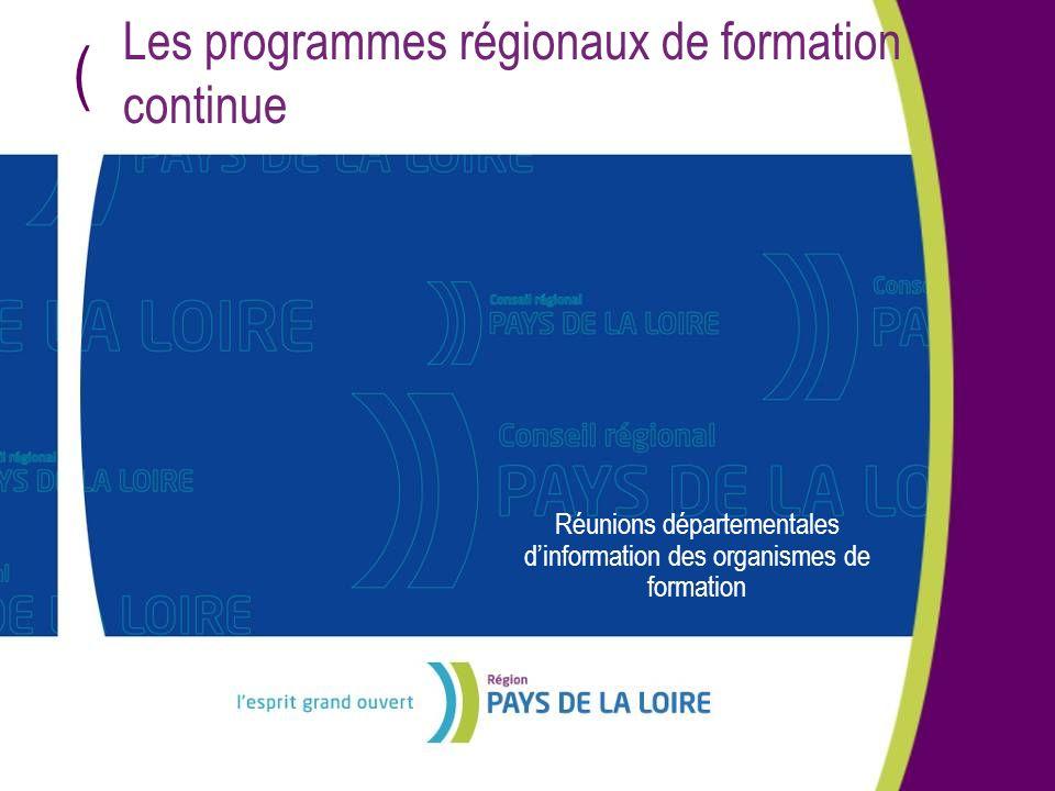Les programmes régionaux de formation continue