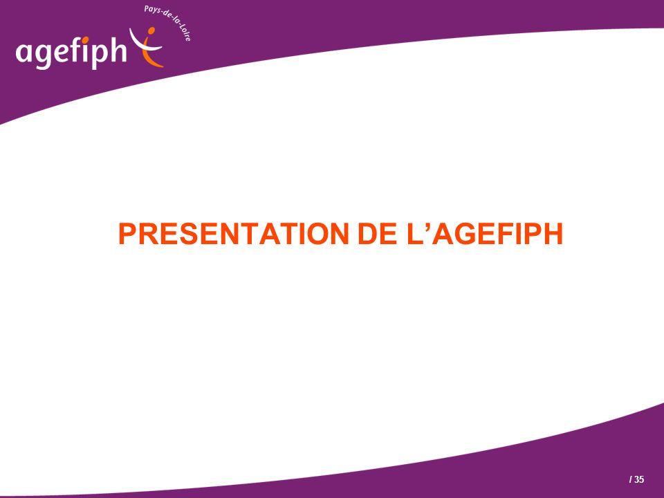PRESENTATION DE L'AGEFIPH
