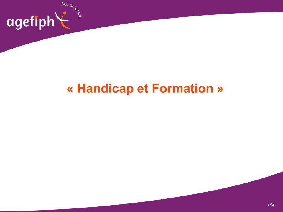 « Handicap et Formation »