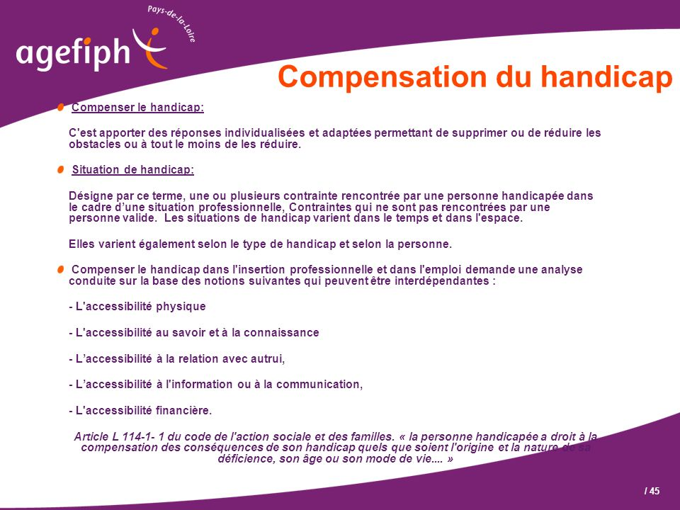 Compensation du handicap