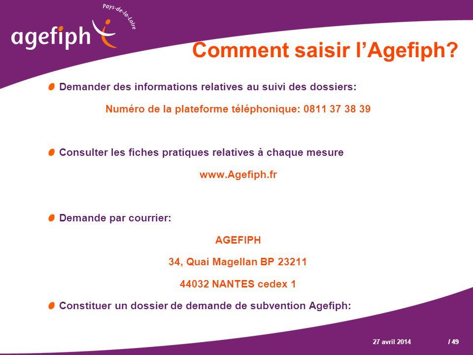 Comment saisir l'Agefiph