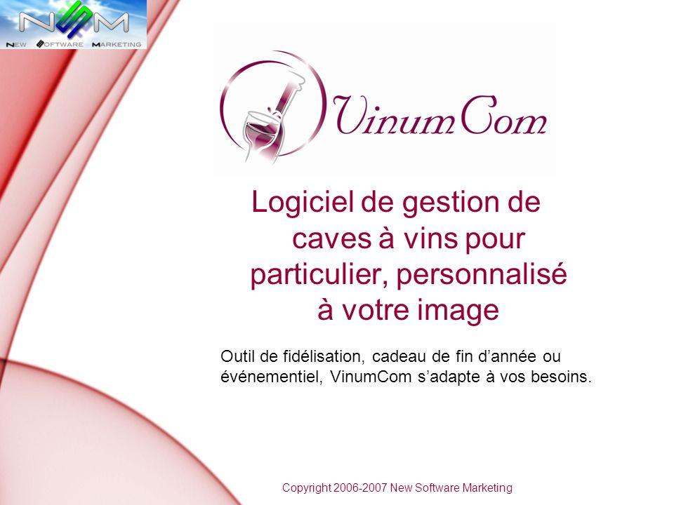 Logiciel de gestion de caves à vins pour particulier, personnalisé à votre image