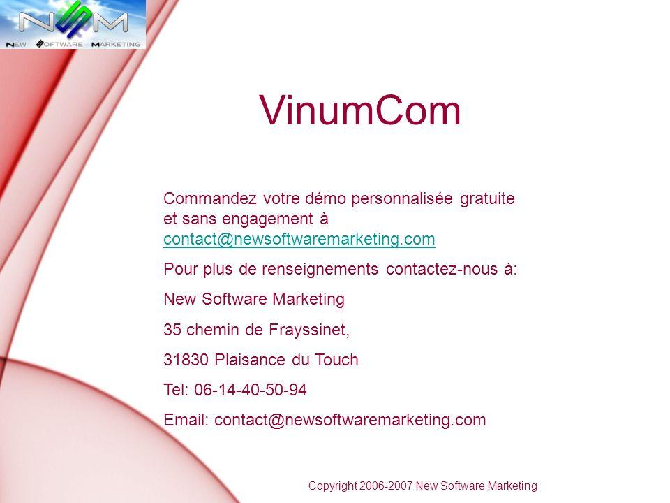 VinumCom Commandez votre démo personnalisée gratuite et sans engagement à contact@newsoftwaremarketing.com.