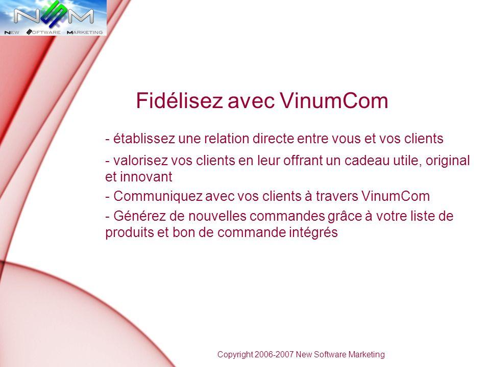 Fidélisez avec VinumCom