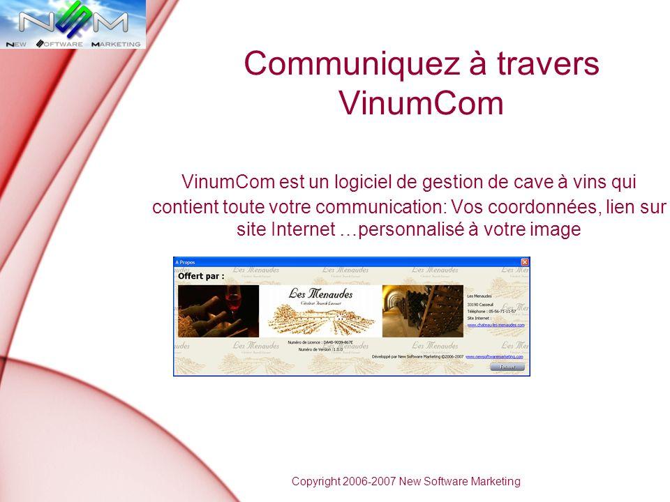 Communiquez à travers VinumCom