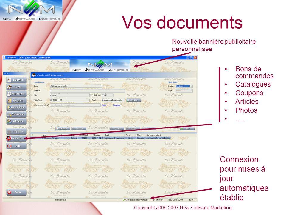 Vos documents Connexion pour mises à jour automatiques établie